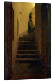 Aluminium print  Caroline on the stairs - Caspar David Friedrich