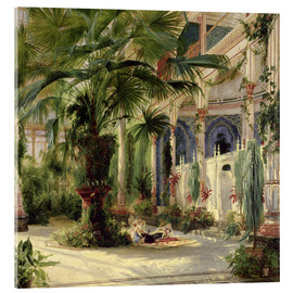 Acrylic print  Interior of the Palm House, Potsdam - Carl Blechen