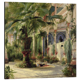 Aluminium print  Interior of the Palm House, Potsdam - Carl Blechen