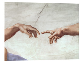 Acrylic glass  The creation of Adam (detail) - Michelangelo