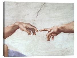 Canvas print  The creation of Adam (detail) - Michelangelo