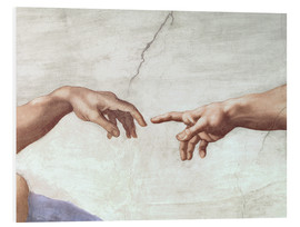Foam board print  The creation of Adam (detail) - Michelangelo