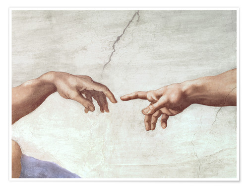 Premium poster The creation of Adam (detail)
