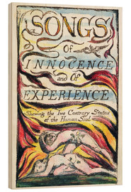 Wood print  Songs of Innocence and of Experience - William Blake