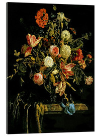 Acrylic glass  Flowers still life - Jan van Huysum