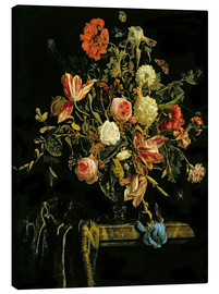 Canvas print  Flowers still life - Jan van Huysum