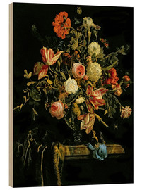Wood  Flower Still Life - Jan van Huysum