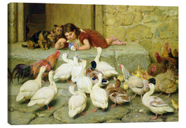 Canvas print  The Last Spoonful - Briton Riviere
