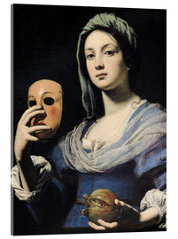 Acrylic print  Woman with a Mask - Lorenzo Lippi