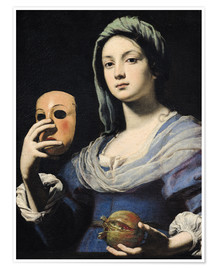 Premium poster Woman with a Mask