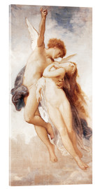 Acrylic glass  Cupid and Psyche - William Adolphe Bouguereau