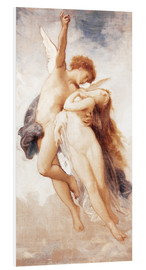 Foam board print  Cupid and Psyche - William Adolphe Bouguereau