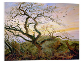 Foam board print  The Tree of Crows - Caspar David Friedrich