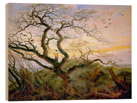 Wood print  The Tree of Crows - Caspar David Friedrich