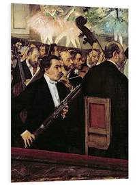 Foam board print  The Opera Orchestra - Edgar Degas