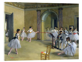 Acrylic print  The Dance Foyer at the Opera on the rue Le Peletier - Edgar Degas