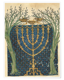 Premium poster Illumination of a menorah