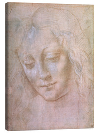 Canvas print  Head of a woman - Leonardo da Vinci