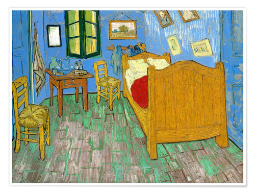 Premium poster Van Gogh's bedroom at Arles