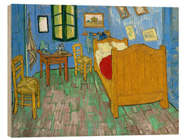 Wood print  Van Gogh's bedroom at Arles - Vincent van Gogh