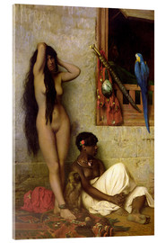 Acrylic print  The slave for sale - Jean Leon Gerome