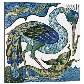 Alu-Dibond  Heron and Fish - Walter Crane