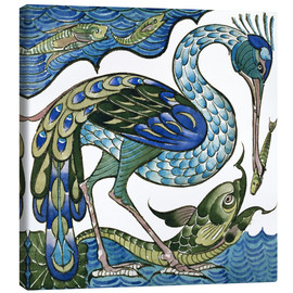 Canvas  Heron and Fish - Walter Crane