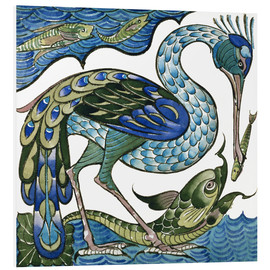 Walter Crane - Heron and Fish