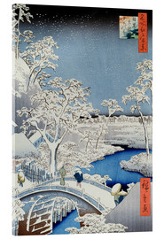 Acrylic print  Winter Landscape - Japanese School