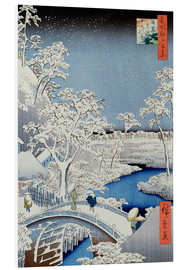 Foam board print  Winter Landscape - Japanese School