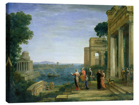 Canvas  Aeneas and Dido in Carthage - Claude Lorrain