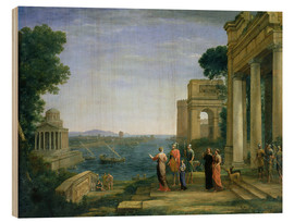 Wood  Aeneas and Dido in Carthage - Claude Lorrain