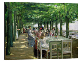 Aluminium print  The Terrace at Jacob's restaurant in Nienstedten-an-der-Elbe - Max Liebermann