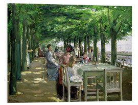 Foam board print  The Terrace at Jacob's restaurant in Nienstedten-an-der-Elbe - Max Liebermann