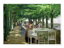 Max Liebermann - The Terrace at Jacob's Restaurant in Nienstedten-an-der-Elbe
