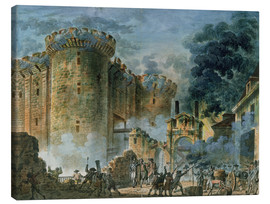 Canvas print  The Taking of the Bastille - Jean-Pierre Houel