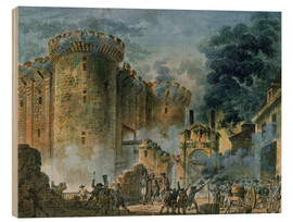 Wood print  The Taking of the Bastille - Jean-Pierre Houel