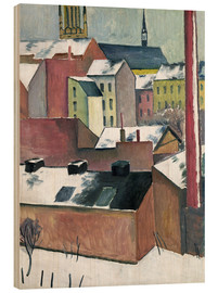 Wood print  The Church of St Mary in Bonn in Snow - August Macke