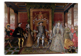 Acrylic print  An Allegory of the Tudor Succession: The Family of Henry VIII - Lucas de Heere