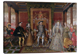 Canvas print  An Allegory of the Tudor Succession: The Family of Henry VIII - Lucas de Heere