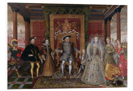 Foam board print  An Allegory of the Tudor Succession: The Family of Henry VIII - Lucas de Heere