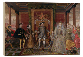 Wood print  An Allegory of the Tudor Succession: The Family of Henry VIII - Lucas de Heere