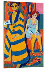Aluminium print  Self Portrait with a Model - Ernst Ludwig Kirchner