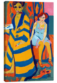 Canvas print  Self Portrait with a Model - Ernst Ludwig Kirchner