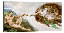 Alu-Dibond  The Creation of Adam - Michelangelo