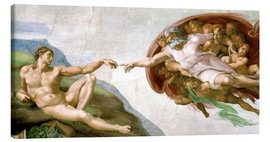 Canvas  The Creation of Adam - Michelangelo