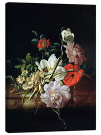 Canvas print  Still Life with Flowers - Rachel Ruysch