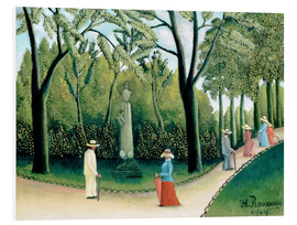 Foam board print  The Monument to Chopin in the Luxembourg Gardens - Henri Rousseau