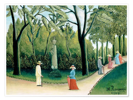 Premium poster The Monument to Chopin in the Luxembourg Gardens