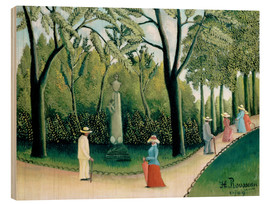 Wood print  The Monument to Chopin in the Luxembourg Gardens - Henri Rousseau